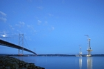 Forth Road Bridge & Queensferry Crossing, Fife by Dave Banks