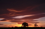 Sunset nr Murthly, Tayside by Dave Banks
